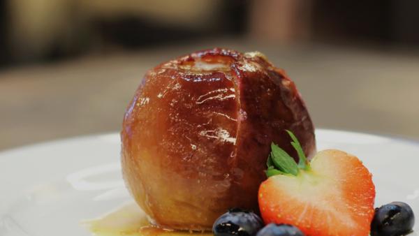 Pommes gourmandes, à l'amande et au four